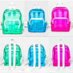 CAT & JACK JELLY PLASTIC BACKPACK SET OF 3